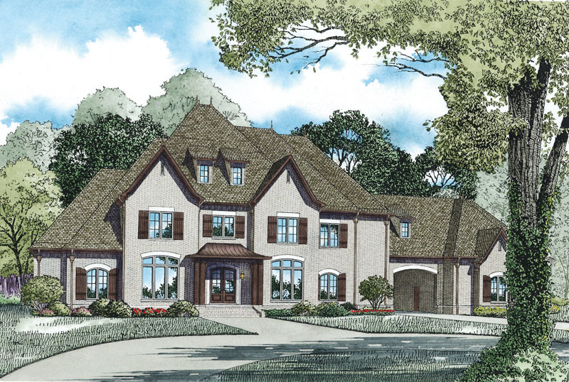 Country French House Plan Front of Home - 055S-0122 | House Plans and More
