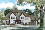 Country French Home Plan Front of Home - 055S-0122 | House Plans and More