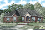 Traditional House Plan Front of Home - 055S-0124 | House Plans and More