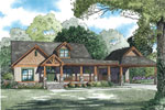 Ranch House Plan Front of Home - 055S-0125 | House Plans and More
