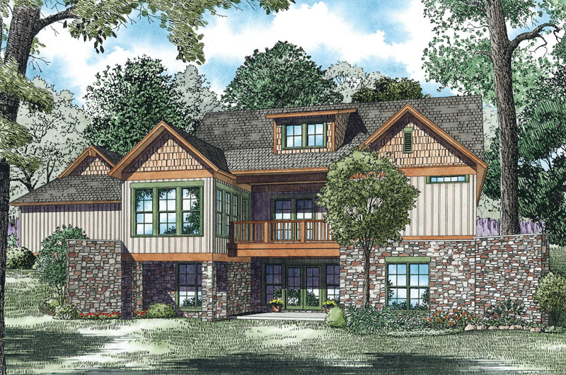 Rustic Home Plan Color Image of House - 055S-0125 | House Plans and More