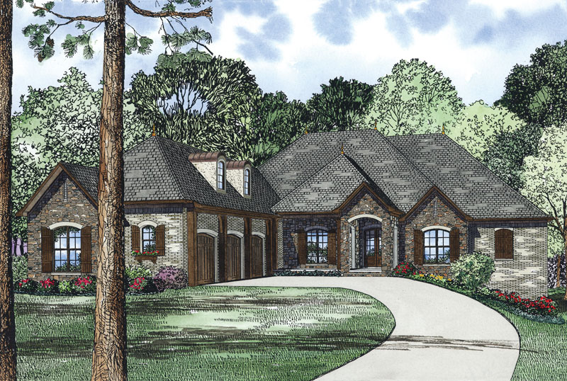 European House Plan Front Image - 055S-0126 | House Plans and More