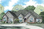 Ranch House Plan Front Image - 055S-0127 | House Plans and More