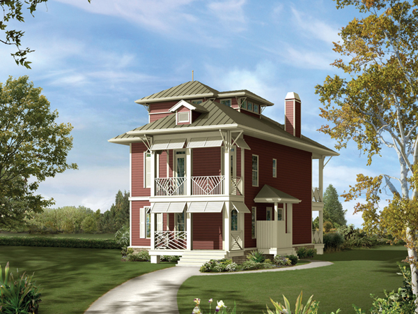 Weintraub Narrow Lot Home Plan 056d 0006 House Plans And