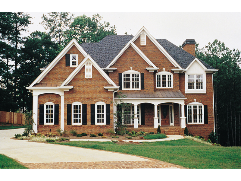 Bucharest luxury home plan 056d 0018 house plans and more for Luxury brick house plans