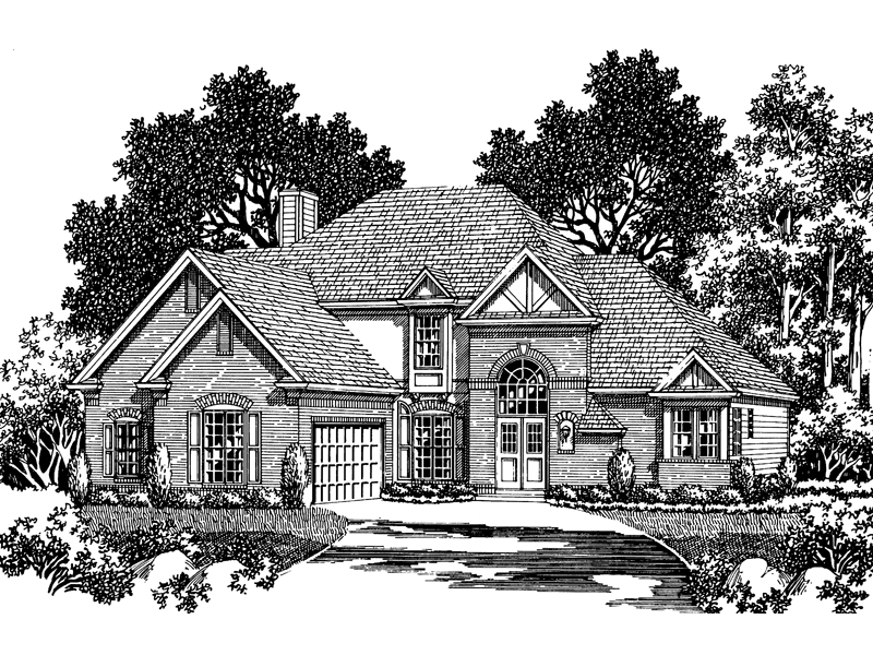 Pamela Cottage Tudor Home Plan 056d 0021 House Plans And