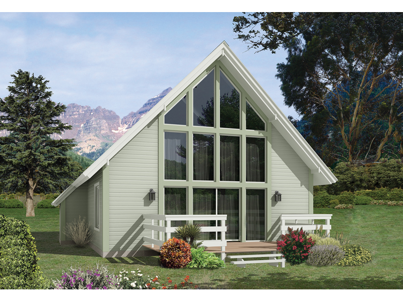 A-Frame House Plan Front of Home 057D-0013