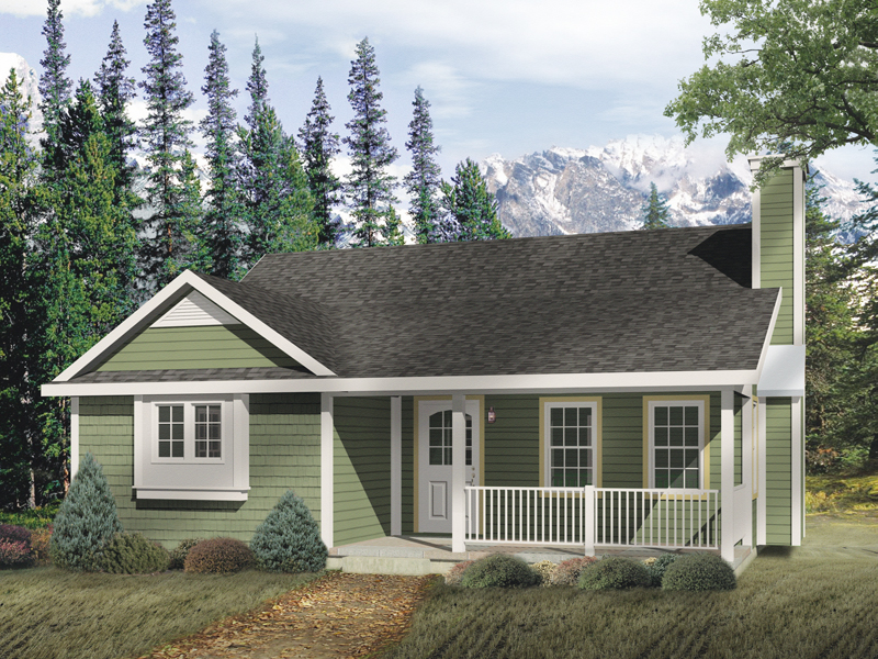 Quaint Cottage With Inviting Front Porch