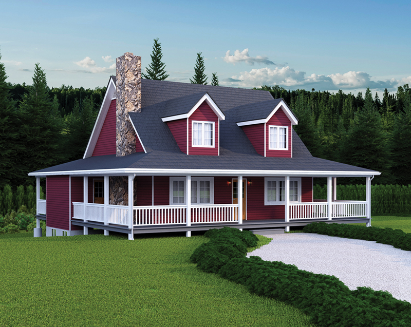 Acadian House Plan Front of Home 058D-0020