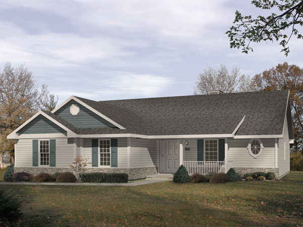 Windham country ranch home plan 058d 0033 house plans for Ranch style house plans with garage on side