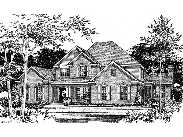 Granberry southern luxury home plan 058d 0036 house for Southern luxury house plans