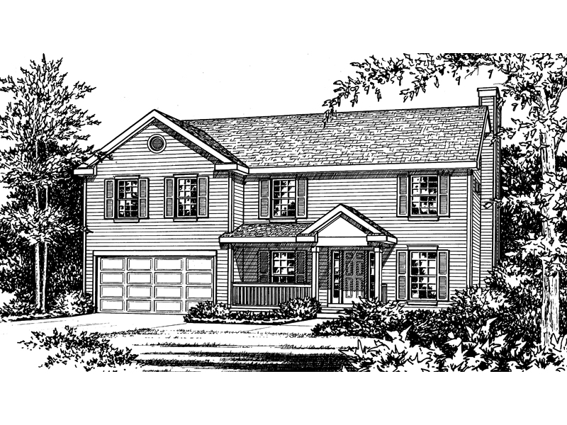 Roosevelt ridge two story home plan 058d 0047 house for Two story house drawing