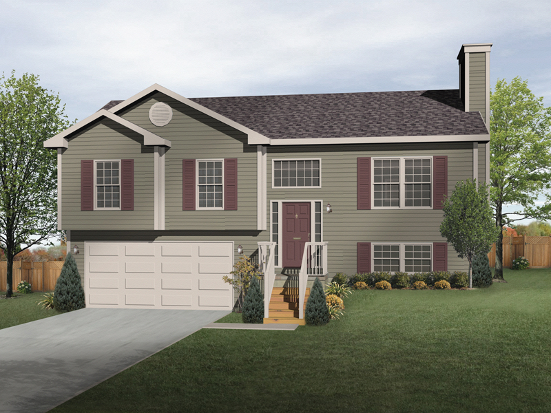 Oaklawn Split-Level Home Plan 058D-0069