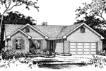 Traditional House Plan Front of Home - 058D-0103 | House Plans and More