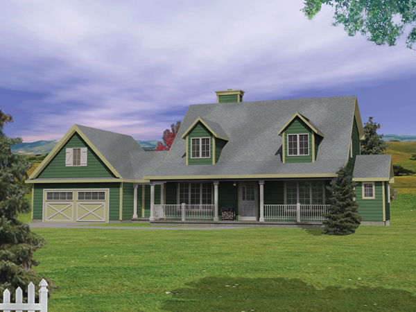 Pennsbrooke farmhouse plan 058d 0124 house plans and more for Farmhouse two story house plans