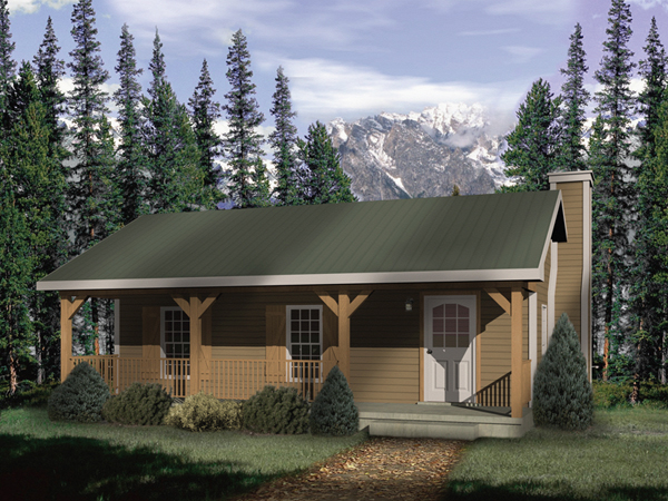 Woodbriar Rustic Country Cabin Plan 058D-0136 | House Plans and More