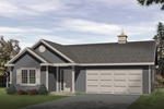 Ranch House Plan Front of Home - 058D-0143 | House Plans and More
