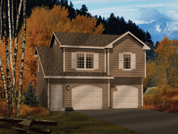 2 Bedroom Garage Apartment Alec Two Car Apartment Garage Plan 058D 0146 House Plans And More