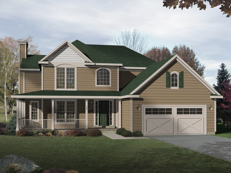 Traditional House Plan Front of Home - 058D-0167 | House Plans and More