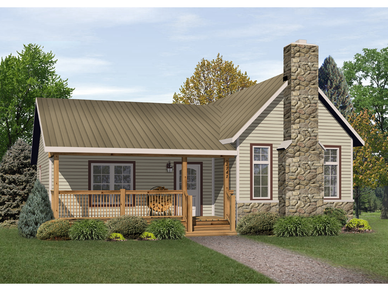 Ranch House Plan Front of Home - 058D-0177 | House Plans and More