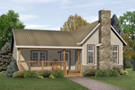 Country Cabin Design With Stone Fireplace