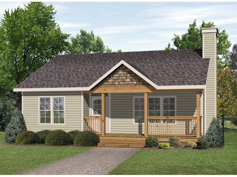 Country Cabin Home Plan With Cozy Front Porch