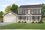Traditional House Plan Front of Home - 058D-0180 | House Plans and More