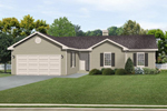 Ranch House Plan Front of Home - 058D-0181 | House Plans and More