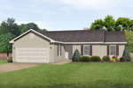 Ranch House Plan Front of Home - 058D-0182 | House Plans and More