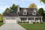Country French Home Plan Front of Home - 058D-0183 | House Plans and More