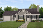 Ranch House Plan Front of Home - 058D-0184 | House Plans and More