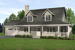 Country House Plan Front of Home - 058D-0185 | House Plans and More