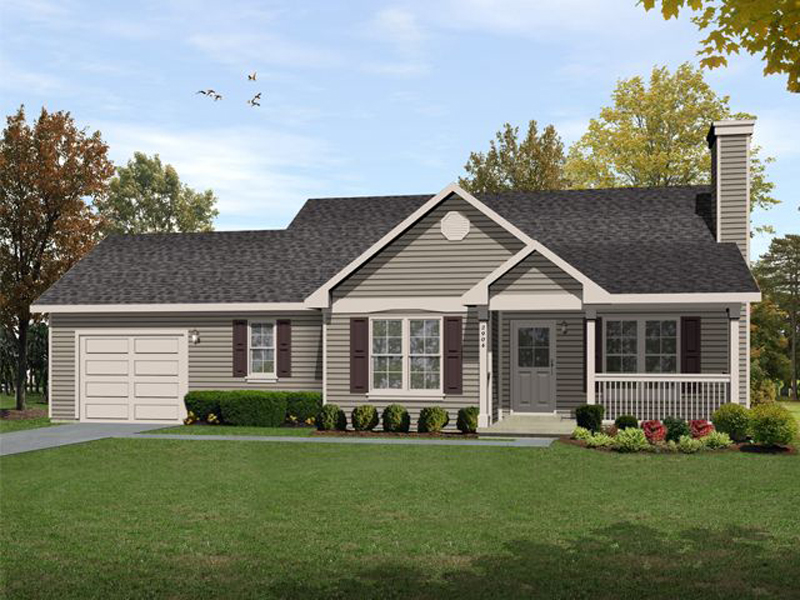 Ranch House Plan Front of Home - 058D-0186 | House Plans and More