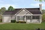 Traditional House Plan Front of Home - 058D-0187 | House Plans and More