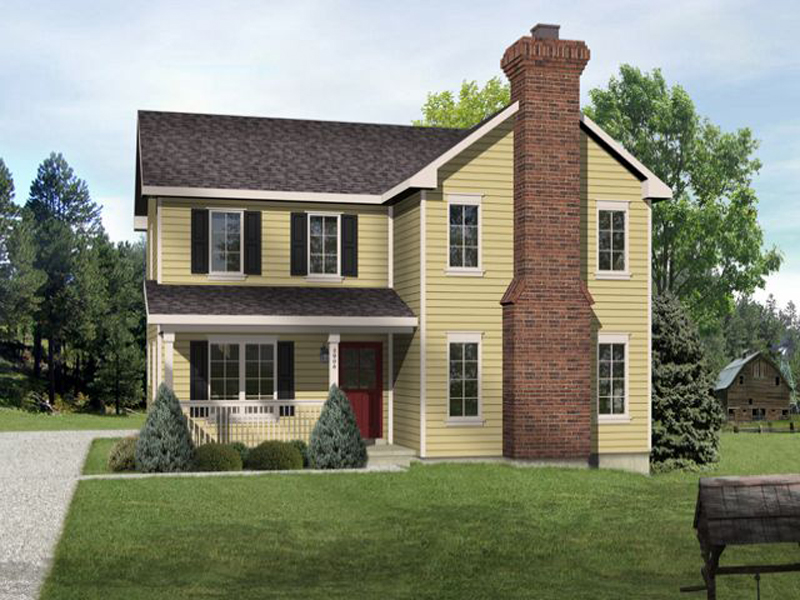 Traditional House Plan Front of Home - 058D-0188 | House Plans and More