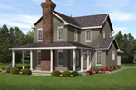 Traditional House Plan Front of Home - 058D-0189 | House Plans and More