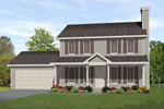 Traditional House Plan Front of Home - 058D-0190 | House Plans and More