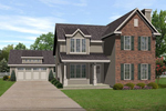 Traditional House Plan Front of Home - 058D-0191 | House Plans and More