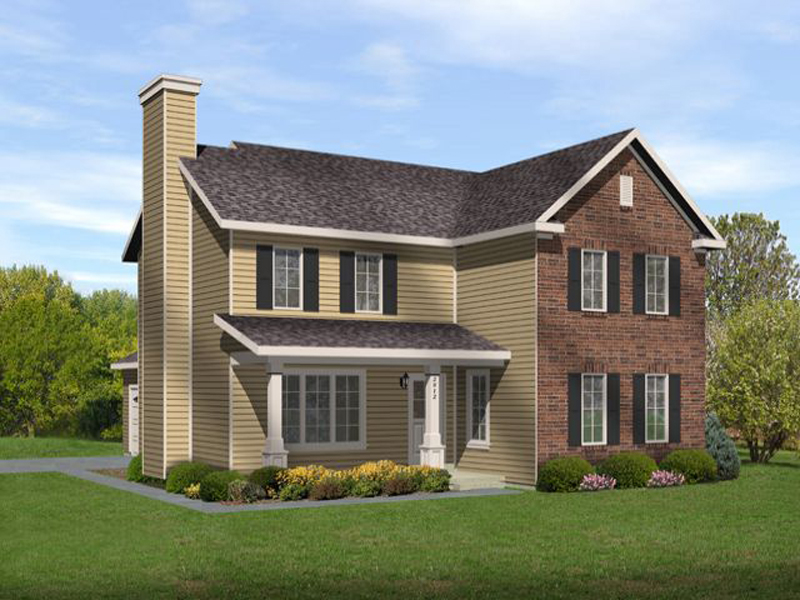 Traditional House Plan Front of Home - 058D-0192 | House Plans and More