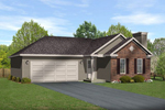 Ranch House Plan Front of Home - 058D-0194 | House Plans and More