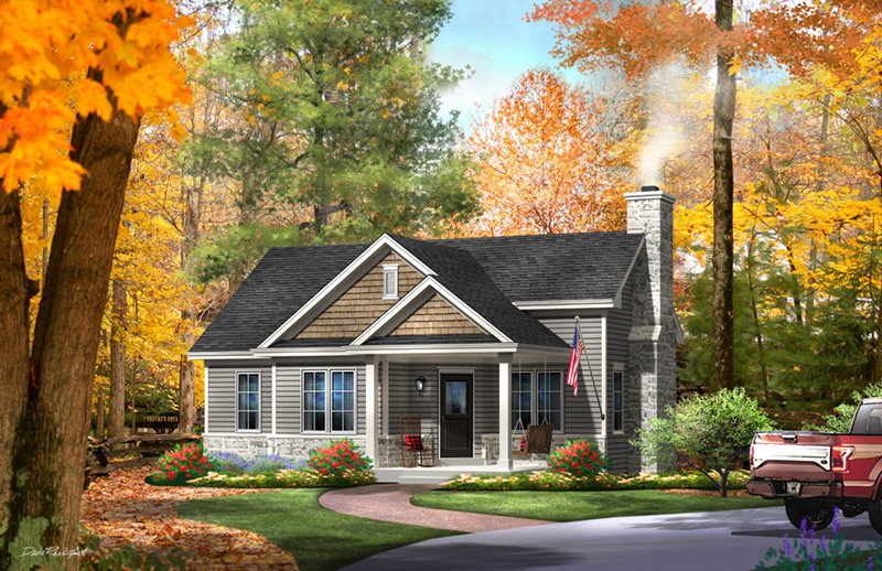 Mill river cottage home plan 058d 0195 house plans and more for River cottage house plans