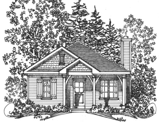 Country House Plan Front Image of House - 058D-0198 | House Plans and More