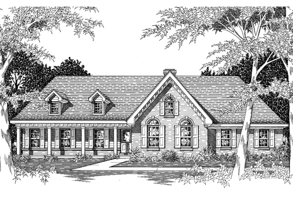 Astoria park ranch home plan 060d 0042 house plans and more for Sprawling ranch house plans