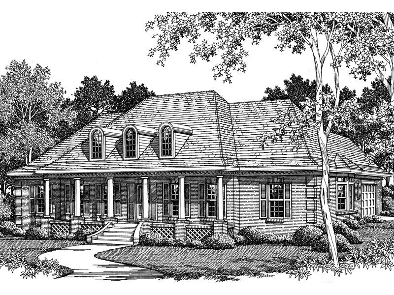 Medora Bayou Plantation Home Plan 060d 0046 House Plans