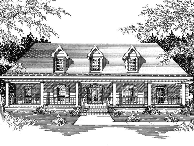 Melrose Valley Southern Home Plan 060d 0049 House Plans