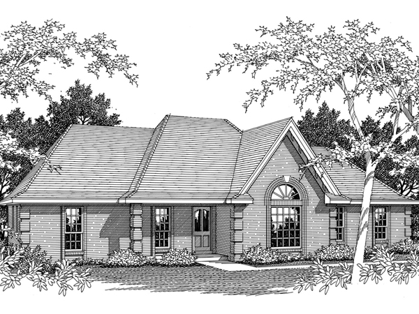 Saxon Hall Ranch Home Plan 060d 0056 House Plans And More