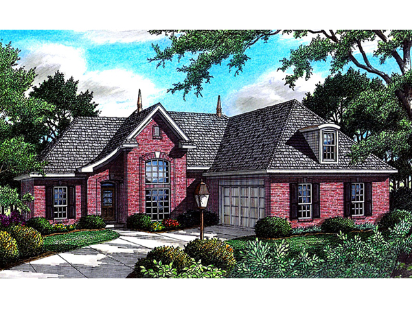 Bellarmine ridge brick home plan 060d 0072 house plans for Brick garage plans