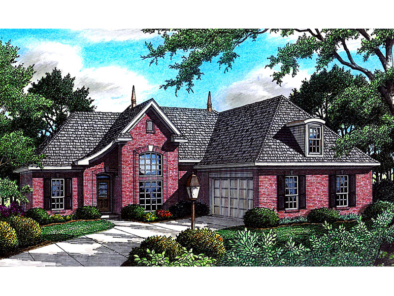 Bellarmine ridge brick home plan 060d 0072 house plans for House plans with side garage