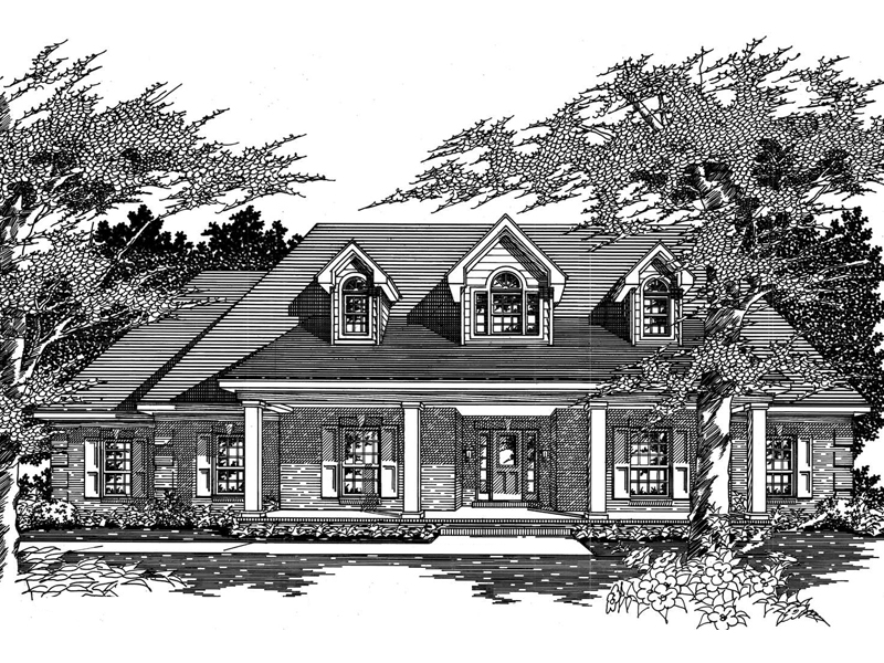 Franclar Cape Cod Ranch Home Plan 060d 0080 House Plans