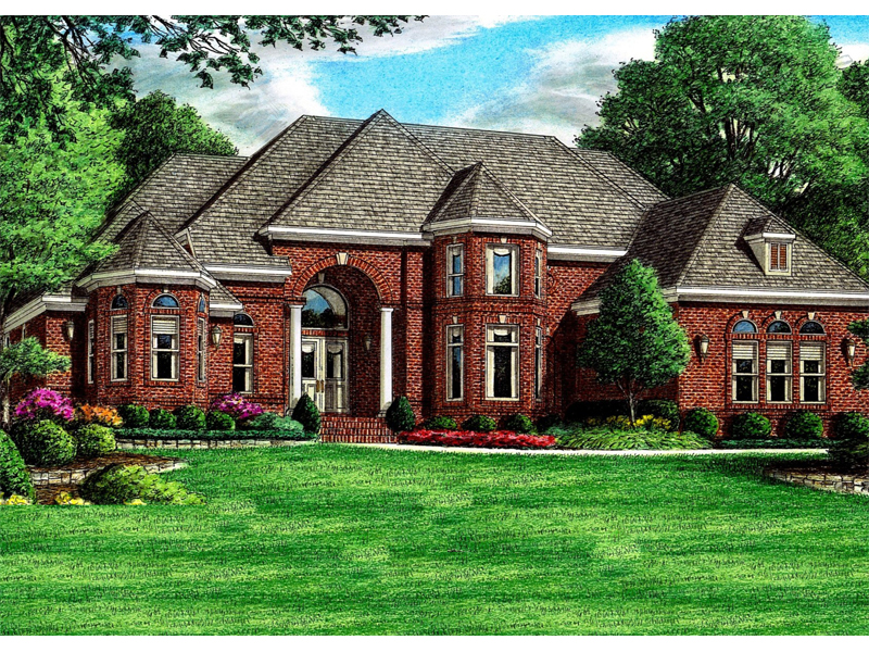 Forest heights luxury home plan 060d 0108 house plans for Luxury brick house plans